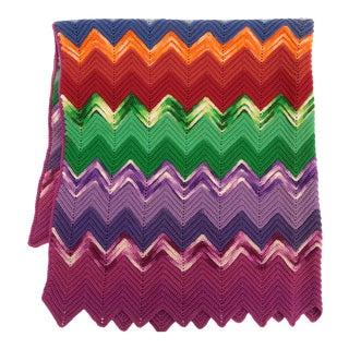 Vintage Chevron Afghan For Sale