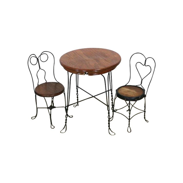1940s Ice Cream Parlor Childs Dining Set - Image 1 of 6