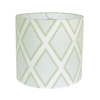 Kravet Celadon Brookhaven Fabric Drum Lamp Shade