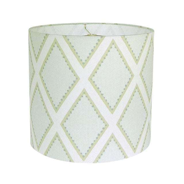 Kravet Celadon Brookhaven Fabric Drum Lamp Shade - Image 1 of 3