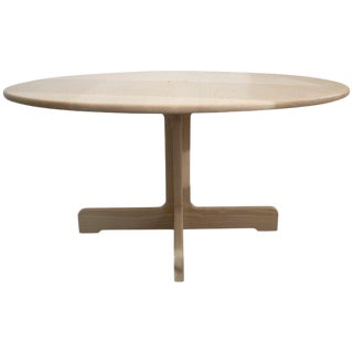 Asa Pingree Physalia Round Dining Table in Bleached Ash For Sale