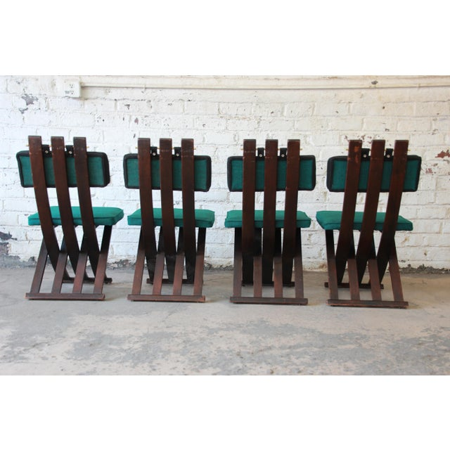 Harvey Probber Mid-Century Modern X-Base Dining Chairs - Set of 4 For Sale In South Bend - Image 6 of 11