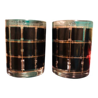 Mid-Century Modern Whiskey Glasses - a Pair For Sale