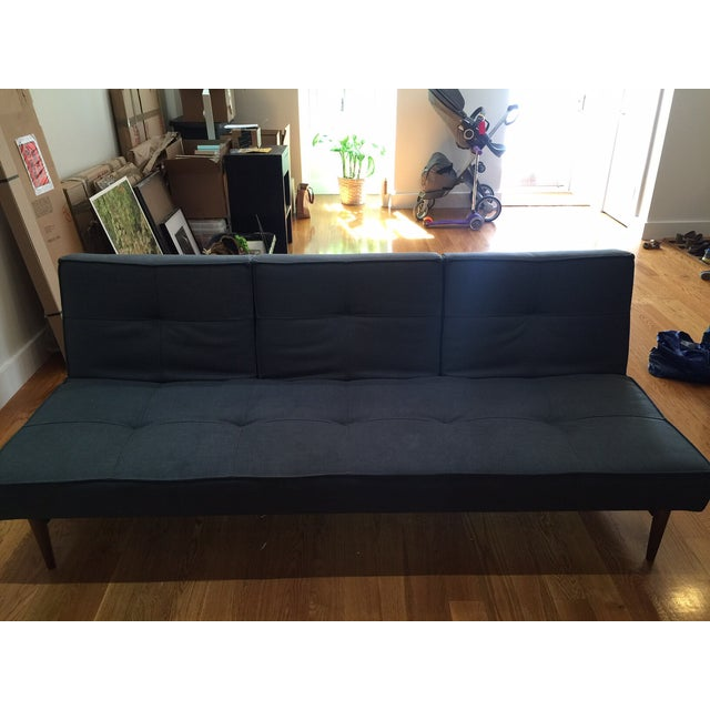 Gray Room & Board Eden Convertible Sleeper Sofa For Sale - Image 8 of 9