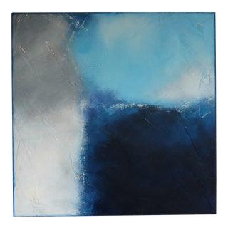 "C. Damien Fox 2020 ""Tempestuous Blue 1"" Oil on Panel For Sale"