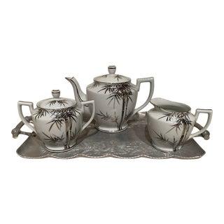 Vintage Mid-Century Asian Porcelain Tea Set - 4 Pieces For Sale