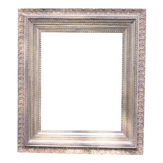 "Antique Large Wood Gesso Gold Gild Picture Frame - 27"" x 31"""