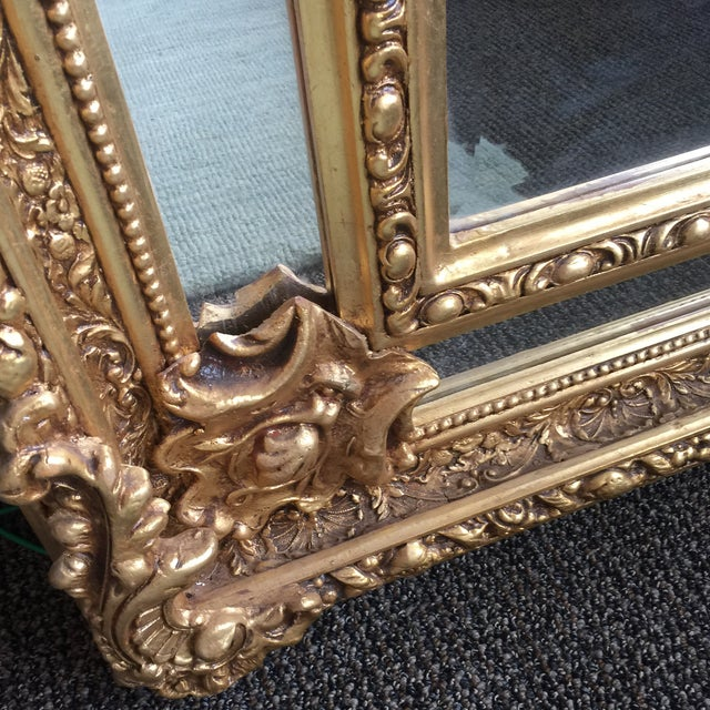 Gilded Scrolling Floor Mirrors - A Pair For Sale In Atlanta - Image 6 of 8