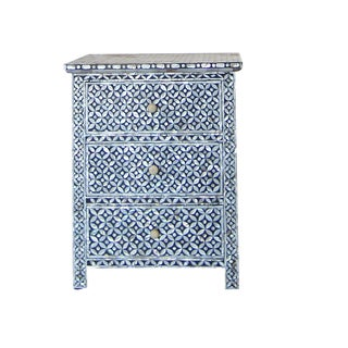 Moorish Style Mother of Pearl Inlay Nightstand