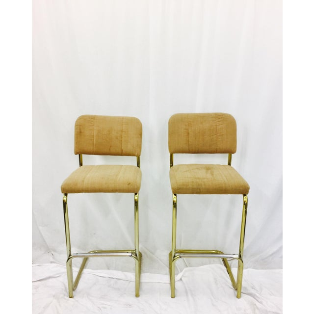 Vintage Mid-Century Modern Bar Stools - A Pair For Sale In Raleigh - Image 6 of 7