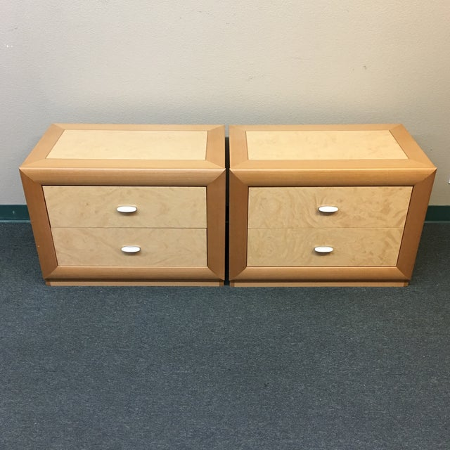 Custom Maple Nightstands - A Pair - Image 2 of 10
