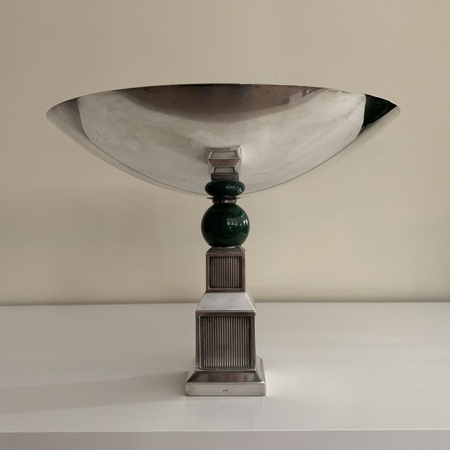 Vintage Gucci Silver Plate Centerpiece Bowl For Sale In Washington DC - Image 6 of 13