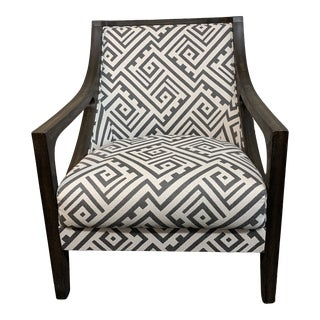 Contemporary Sloped Arm Chair For Sale