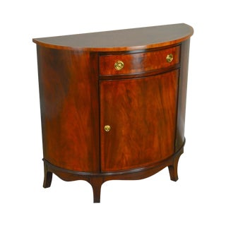 Henkel Harris Flame Mahogany Demilune Accent Cabinet For Sale