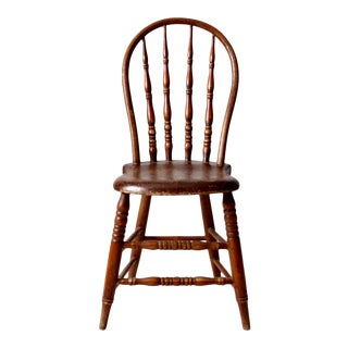 Antique Bow Back Windsor Chair For Sale