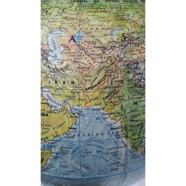 Vintage World Book Globe by Replogle on Stand - Image 7 of 10
