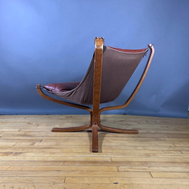 """Canvas Sigurd Ressell Low Back """"Falcon"""" Chair, 1970s, Norway For Sale - Image 7 of 11"""