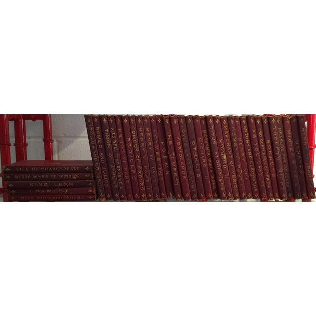 Antique Red Leather Shakespeare Collection - Set of 36 - Image 2 of 4