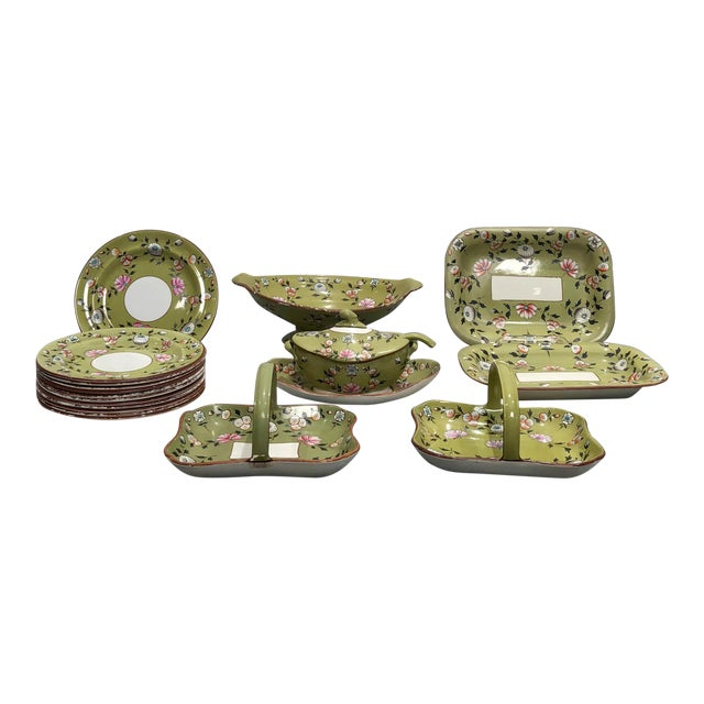 Part Spode Dessert Set, England 19th Century - 18 Pc. Set For Sale