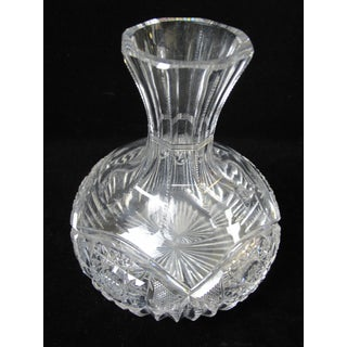 Antique American Brilliant Period Cut Crystal Carafe Decanter Preview