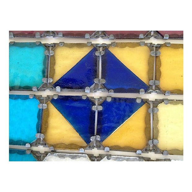 Antique French Stained Glass Window Panel - Image 2 of 6