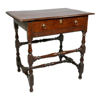 William and Mary Oak Tavern Table For Sale
