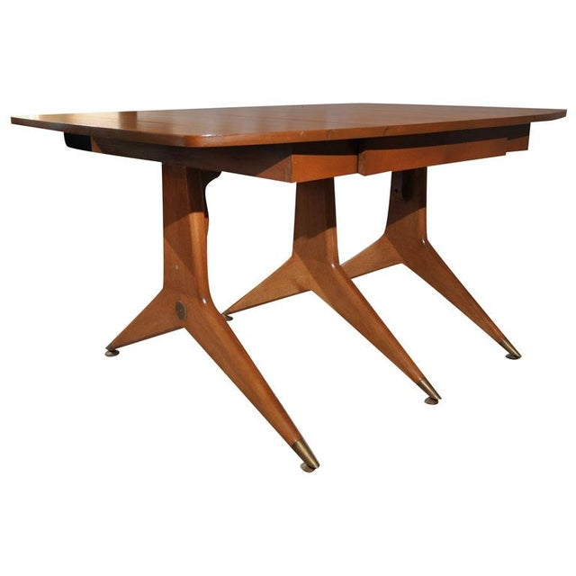 1950s Mid-Century Modern Drop Leaf Table For Sale - Image 9 of 9