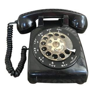 Western Electric 500 Mid-Century Black Rotary Phone