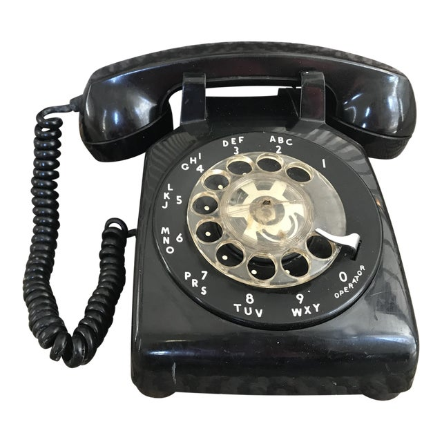 Western Electric 500 Mid-Century Black Rotary Phone For Sale