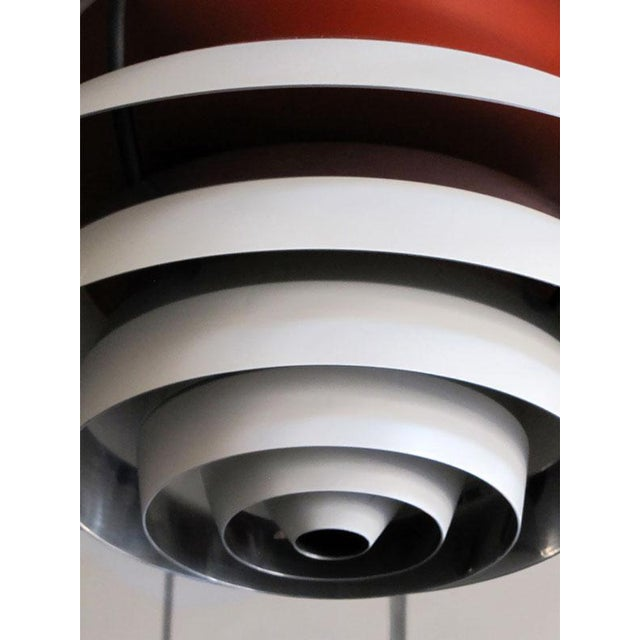"Stunning Poul Henningsen ""Kontrast"" lamp in excellent original condition, pendant is composed of ten concentric, stacked..."