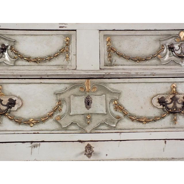 19th C. French Painted Chest of Drawers - Image 6 of 10