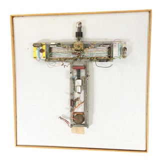 "Abstract ""Stations of the Cross"" Untitled 3 Vacuum Tube Wall Sculpture by Pasqual Bettio For Sale"