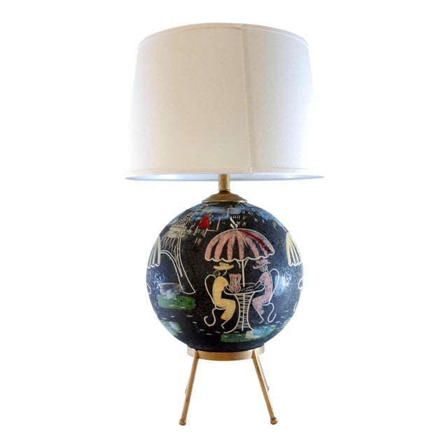 Mid-Century Atomic Cafe Paris Table Lamp - Image 1 of 7