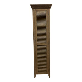 Restoration Hardware Shutter Tall Cabinet For Sale