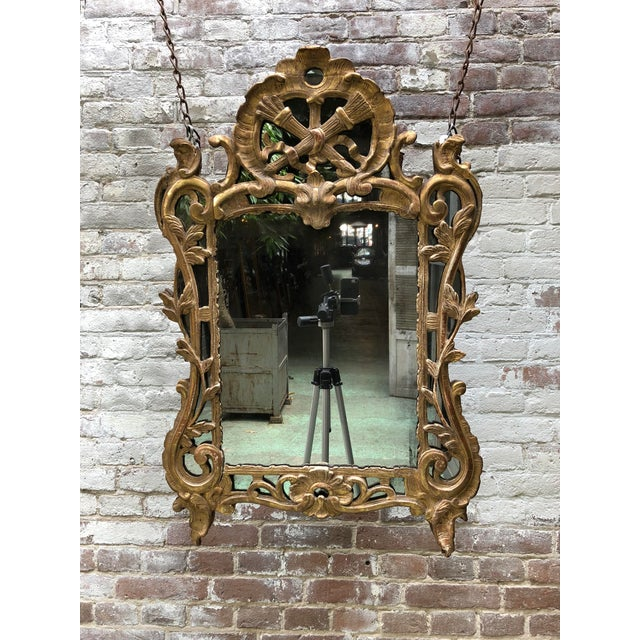 18th Century Mirror, Louis XV, Provenance France. This Louis XV mirror, due to the rules of King Louis XV in mid 18th...