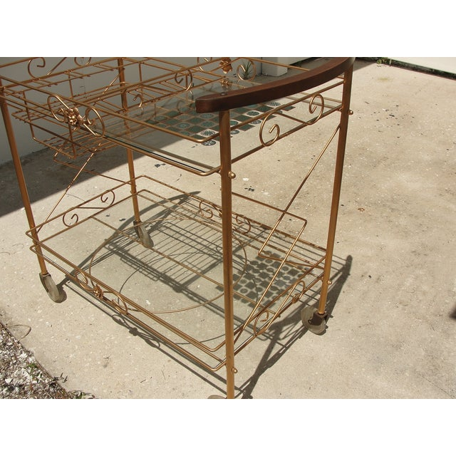 1950s Atomic-Style Rolling Bar Cart - Image 8 of 10