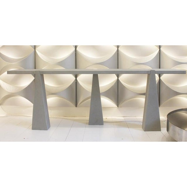 Pietra Serena Stone Console by Angelo Mangiarotti for Skipper, Italy, 1978 For Sale - Image 6 of 7