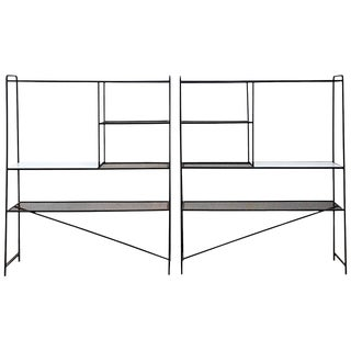 1950s Iron Room Dividers Shelves by Freda Diamond For Sale