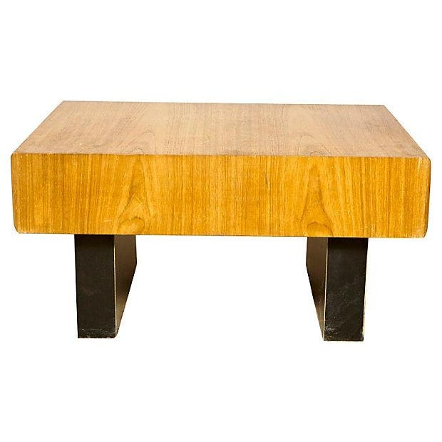 Mid-Century Modern Teak & Black Painted Coffee Table For Sale - Image 3 of 6