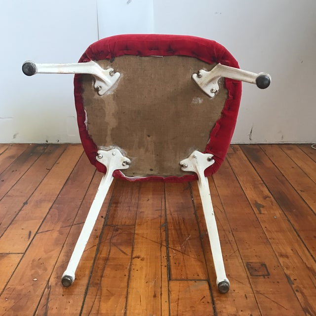 Iron Red Earnest Race Chair For Sale - Image 7 of 8
