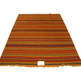 Striped Indian Kilim - 9' X 12' For Sale