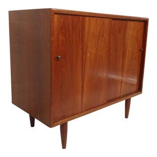Petite Walnut Cabinet For Sale