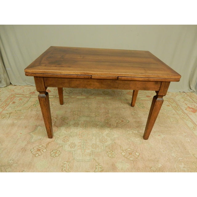 Italian Walnut Farm Table For Sale In New Orleans - Image 6 of 6