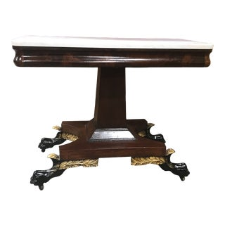 19th Century Classical Marble Top Console Table For Sale