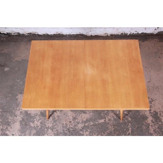 Maple 1950s Paul McCobb Planner Group Maple Extension Dining Table For Sale - Image 7 of 13