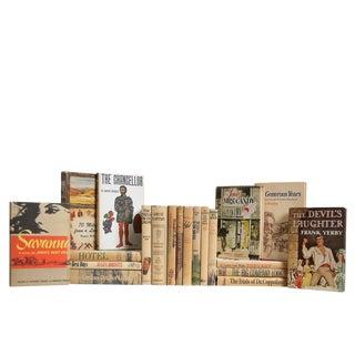 Midcentury Dustjacket in Neutral : Set of Twenty Decorative Books For Sale
