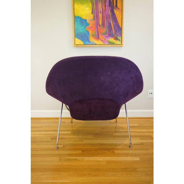 Metal Mid-Century Modern Authentic Eero Saarinen for Knoll Purple Womb Chair For Sale - Image 7 of 12