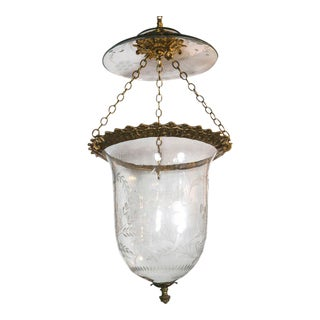 1930s Italian Etched Glass Lantern For Sale