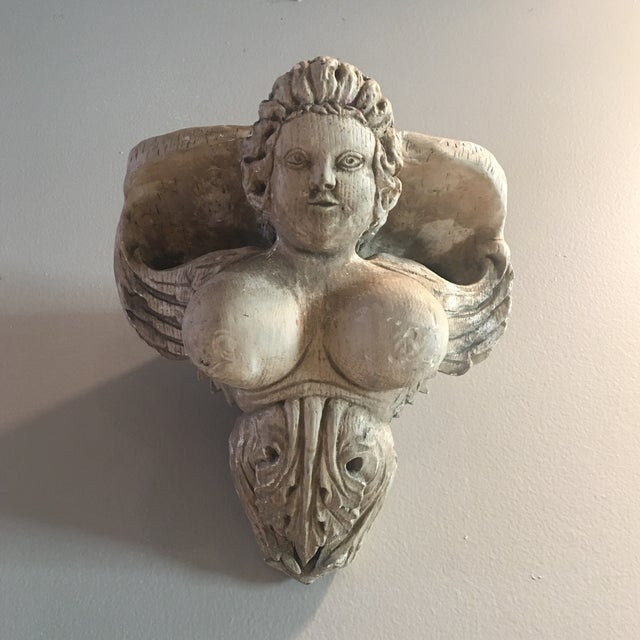 Hand Carved Buxom Figurehead Wall Mount - Image 2 of 9