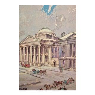 Original 1938 Montreal Street Scene, Notre Dame + St. Jacques Streets